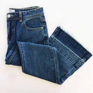 Redial   Just Letting My Hem Down Flare Jeans